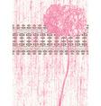 grunge flower vector image vector image