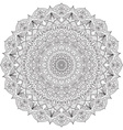 Complex detailed black Mandala on white background vector image