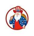 American Father Christmas Santa Claus vector image