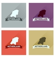 Concept flat icons with long shadow Netherlands vector image