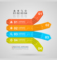 business infographics arrow origami style vector image