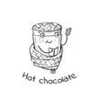 character of warming hot vector image