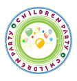 children party vector image