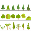 Different trees collection Lineart design set vector image