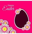 Easter Postcard With Flowers vector image