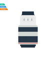 Flat design icon of photo camera zoom lens in ui vector image