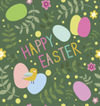 Happy Easter seamless print with bird vector image