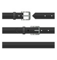 seamless black leather belts set vector image