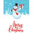 snowman holiday cartoons vector image