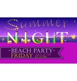 Summer Night Beach Party Funny Invitation vector image