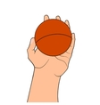 Game ball in hand vector image