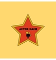 in flat style star with actor vector image