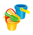 icon toy shovel and bucket vector image vector image