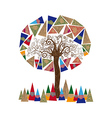 Abstract tree concept vector image