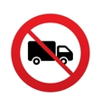 No Delivery truck sign icon Cargo van symbol vector image