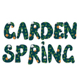 Garden and spring banners with plants vector image
