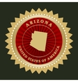 Star label Arizona vector image vector image