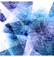 Abstract blue grunge background vector image vector image