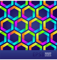 seamless colorful hexagons vector image