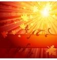 elegant autumn banner vector image vector image