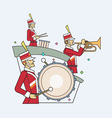 Military band line style vector image