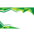 background trangle green vector image