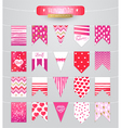Set with flag on Valentines day vector image