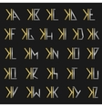 Letter X with alphabet vector image