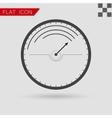 Black Speedometer icon vector image