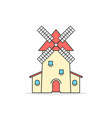 colored linear windmill icon vector image