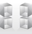 empty bookshelf vector image