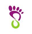 foot step medic beauty abstract logo vector image
