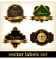 golden labels set vector image