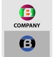 Set of letter B logo icons design template element vector image