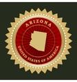 Star label Arizona vector image