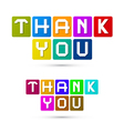Thank You Colorful Icons vector image