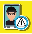 man smartphone thief secure vector image
