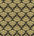 Golden Patterned Wallpaper vector image