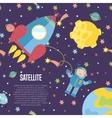 Satellite Conceptual Cartoon Web Banner vector image