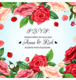 Realistic Rose Background vector image