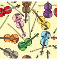 violin pattern vector image