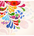 Abstract ornamental floral background vector image vector image