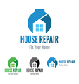 house repair company logo template vector image