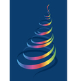 Christmas tree in a modernist style vector image vector image