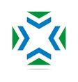 arrow letter line design symbol graphic icon vector image