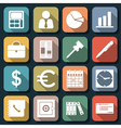 Business and office flat icons vector image