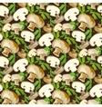 Champignon mushroom with leaves vector image