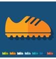 Flat design sneakers vector image