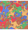 Multi-colored monkeys seamless background vector image