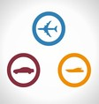 Of Transportation Icons boat p vector image